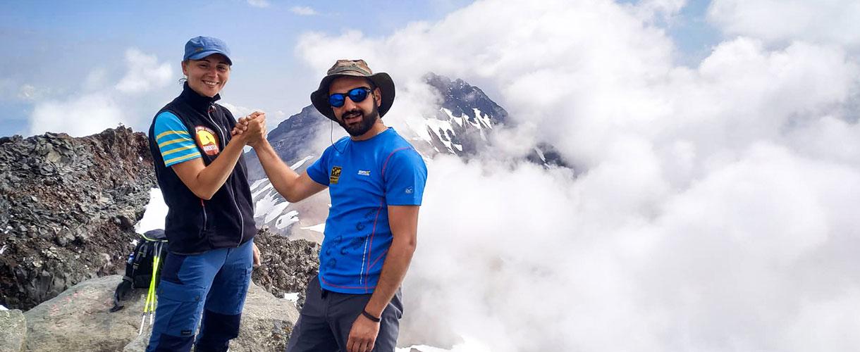 Climb the highest peak of Armenia photo © Barents.pl