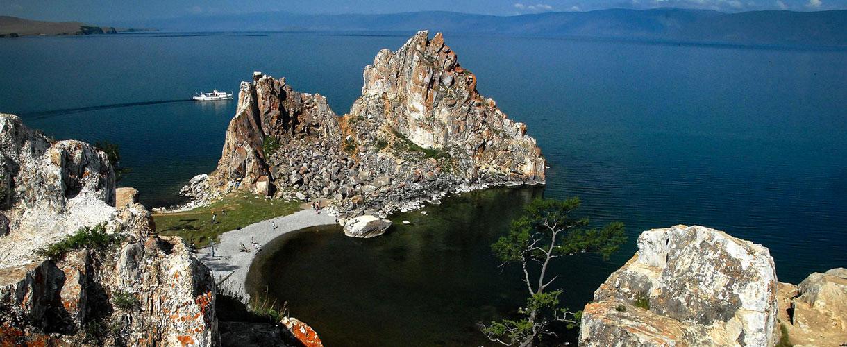 Szamańska Skała. Bajkał. Wyprawa nad Bajkał © fot. Ivo Dokoupił dla Barents.pl