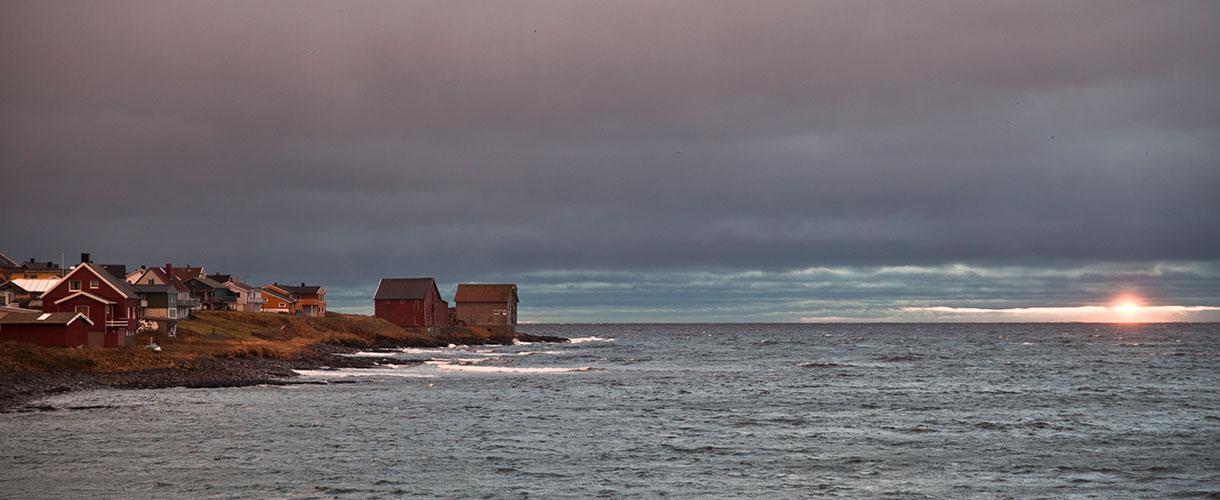 Ostatnie promienie słońca w Vardo. Północna Norwegia: HEN. Śladami książki z autorką Iloną Wiśniewską fot. © Ilona Wiśniewska