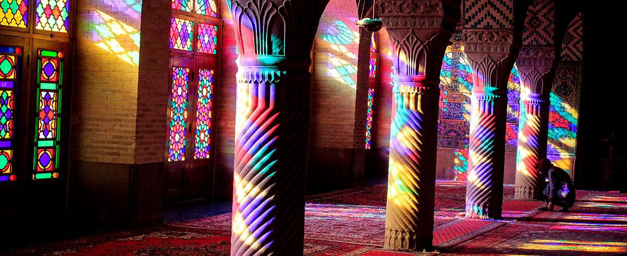Różowy meczet w Szirazie. Majówka w Iranie fot. © Bartek Krzysztan, Barents 2017