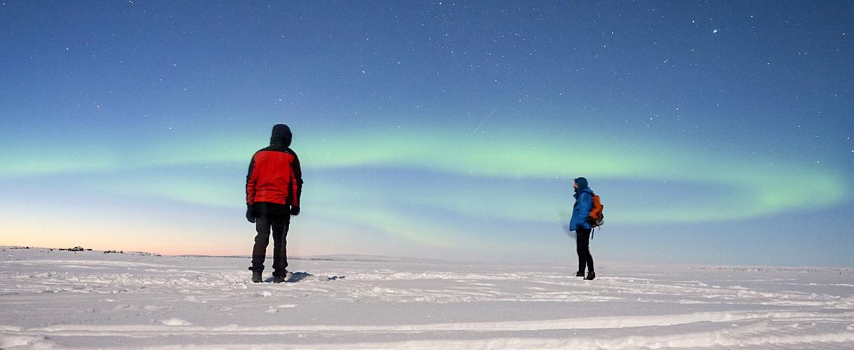 Na biegówkach za kołem polarnym. fot. © Mateusz Kuszela, Barents.pl
