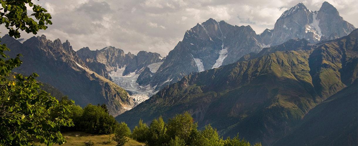 Hikes Through Svaneti. Mountain Ushba. Photo © Lidka Wiśniewska with Barents.pl