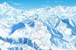 Narty w Gruzji, mapa Gudauri, Barents.pl, biuro podróży, wyjazd na narty