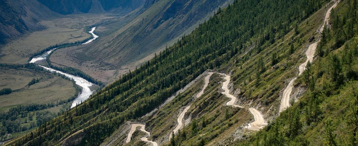 Dolina Czułyszmańska. Rowerem po najładniejszych górach Syberii - Ałtaju fot. © Łukasz Bujonek, Barents.pl