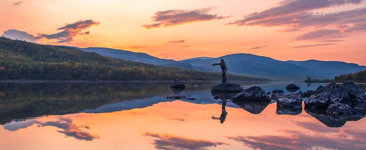 Finlandia: trekking na Halti przez jesienną tundrę Laponii © fot. Nationalparks.fi dla Barents.pl