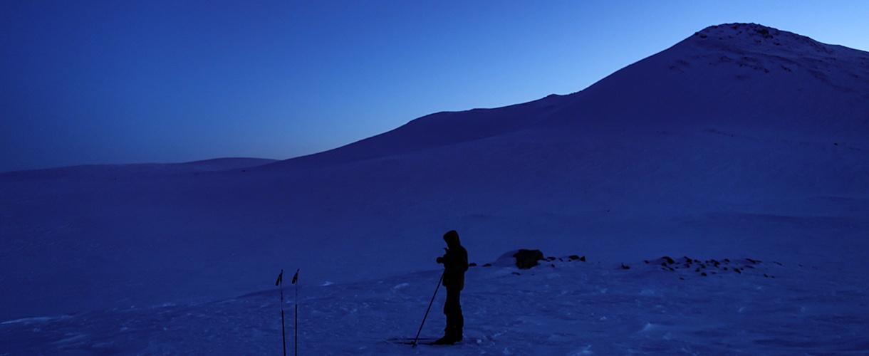 Sylwester w Laponii: w świetle zorzy polarnej fot. © Mateusz Kuszela, Barents.pl