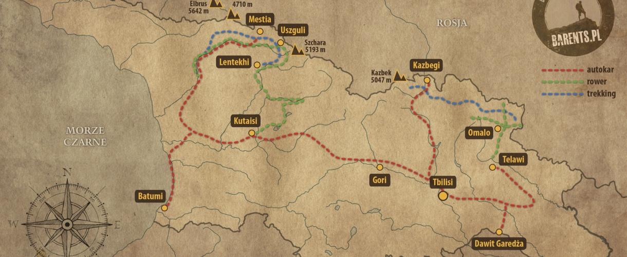 Mapa Gruzji