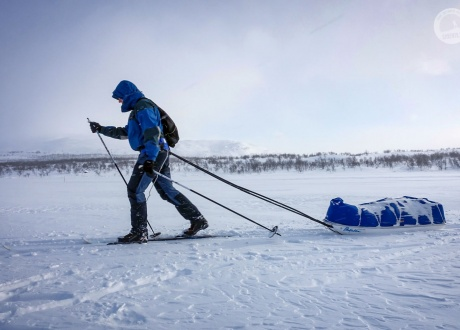 Laponia: na biegówkach w krainie Saamów w 2018 fot. © Mateusz Kuszela, Barents.pl