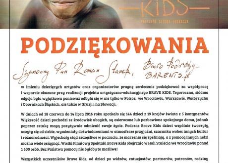 Podziękowania Brave dla Barents.pl