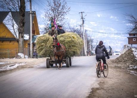 Sylwester i Nowy Rok na ukraińskim Zakarpaciu 2019/20 fot. © Maciej Przetakiewicz z Barents.pl