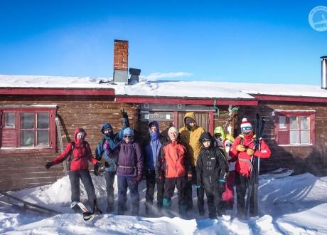 Ekipa biegówkowa z wyjazdu w marcu 2018 r. fot. © Barents.pl