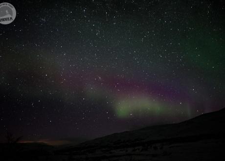 Sylwester w Laponii: w świetle zorzy polarnej fot. © Paweł Gardziej, Barents.pl