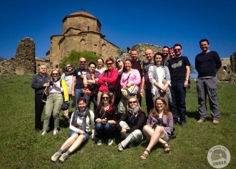 Zdjęcie grupowe :-) Wycieczka do Gruzji: Tbilisi, Batumi, Kazbek i Swanetia © Roman Stanek, Barents.pl